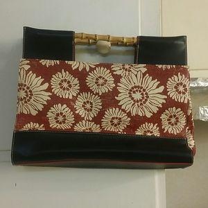 Tommy Hilfiger straw purse